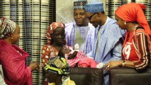 Kidnapped Chibok girl meets the President of Nigeria