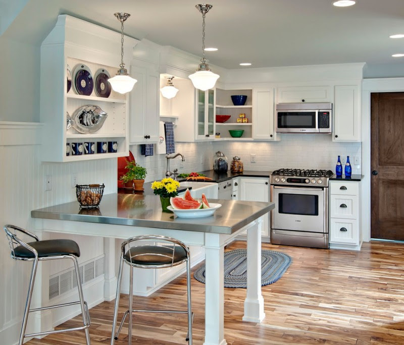 30 Best Small Open Kitchen Designs that Optimize Both ...