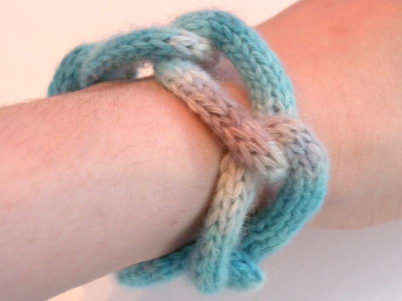 I-cord Chain Bracelet - side