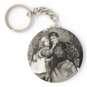 Vintage Mother and Daughter keychain