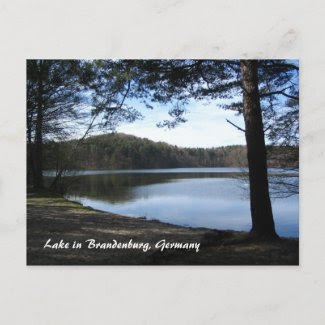 Lake in Brandenburg, Germany postcard