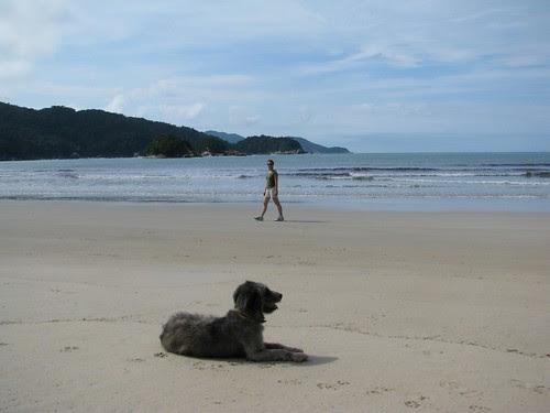 Ginge and friend Praia de Dois Rios