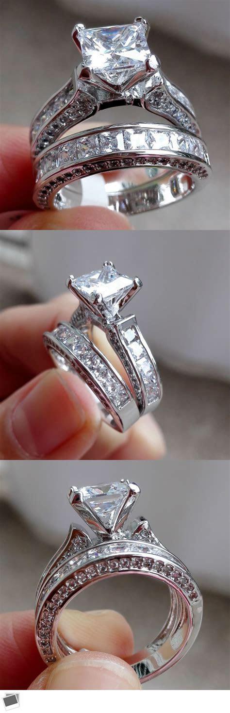 Sterling Silver Oval Blue Sapphire & White Diamond Women's