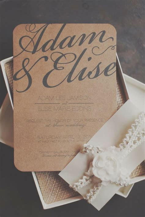 Best 25  Brown wedding invitations ideas on Pinterest