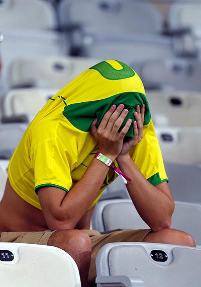 man cries