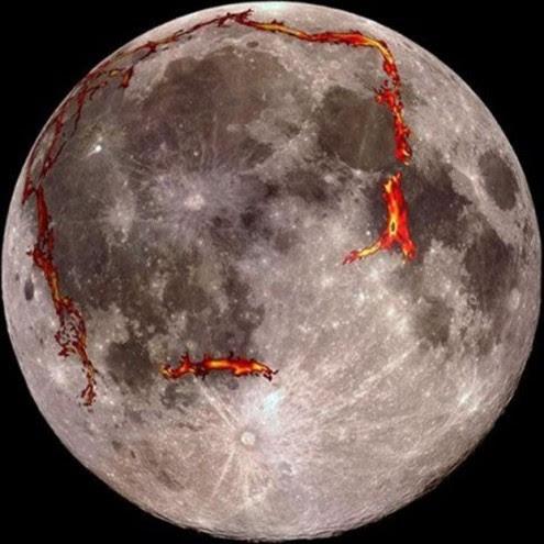 Με κόκκινο έχει σημειωθεί το γεωλογικό σχήμα που αποτελεί την τάφρο