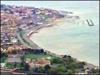Colwyn Bay aerial shot