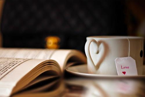 simple pleasures, tea and a good book, via M Al-Ahmadi