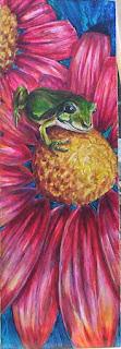 tree frog on flower