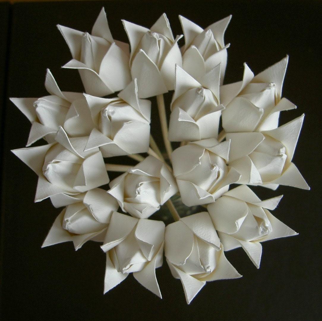 Origami Tulips White