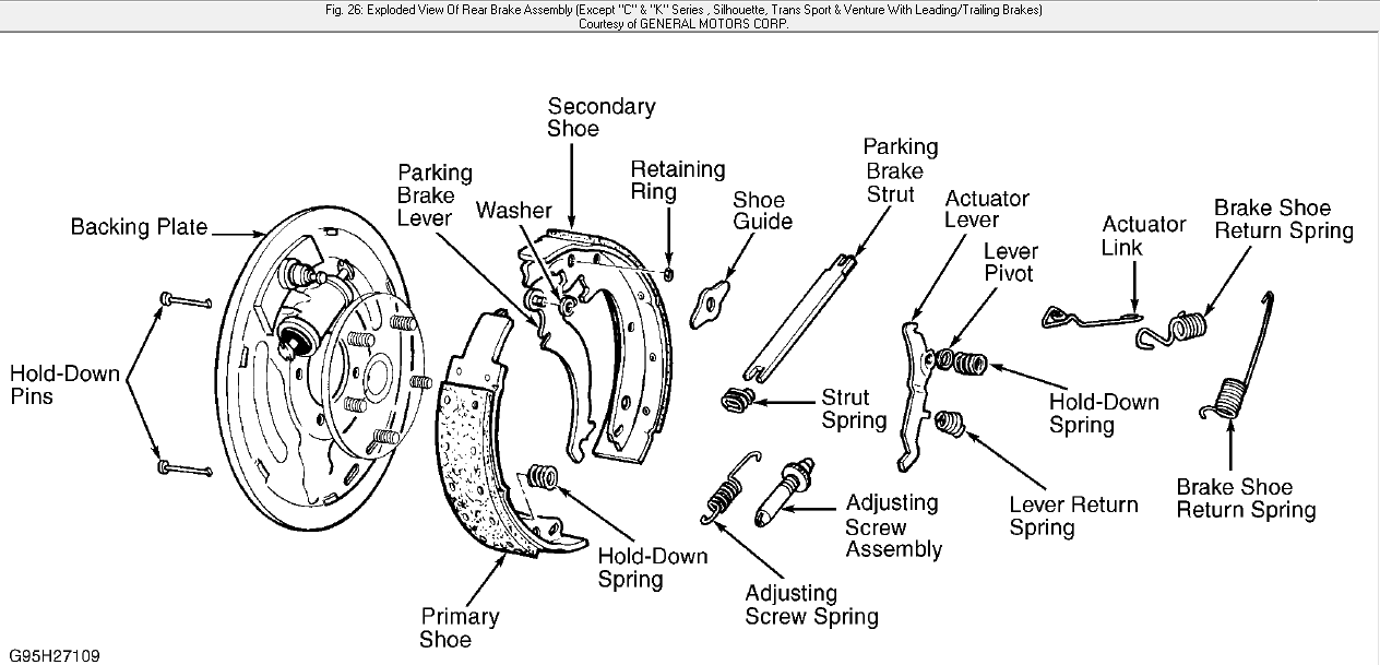 Need diagram of brakes and calipers of 1998 Silverado.