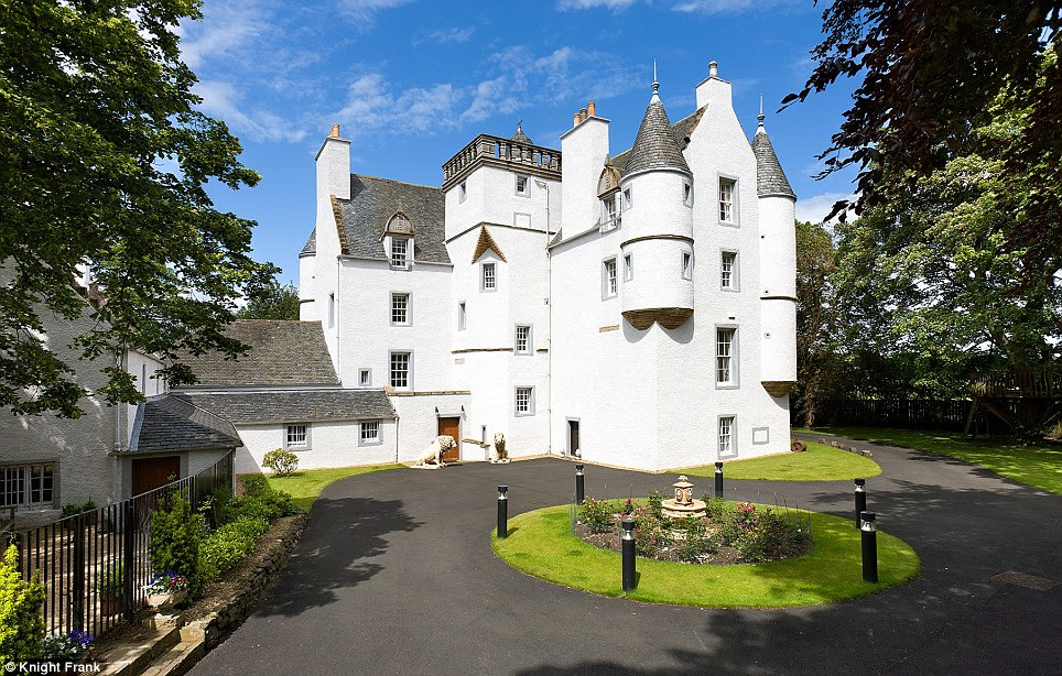 Heritage: Castle Gogar is just six miles from the centre of Edinburgh and was built in Scots Baronial style. It has seven bedrooms and is on the market for £2.9 million