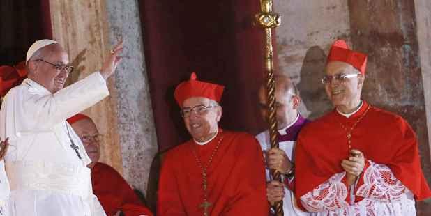 Antes da oração, o papa Francisco I agradeceu pela acolhida dos fiéis (REUTERS/Alessandro Bianchi )