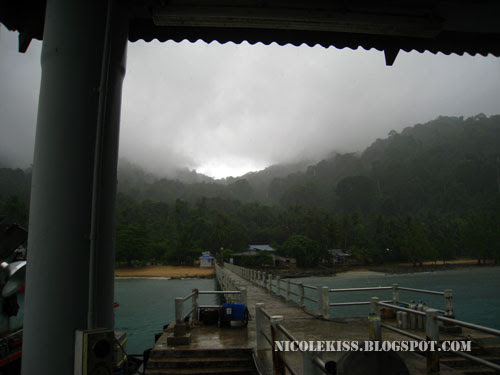 rainy weather at the jetty