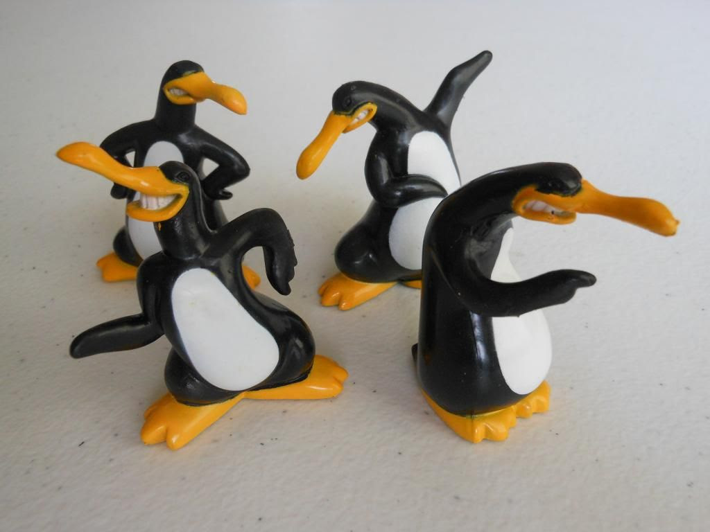 Penguin playing pieces