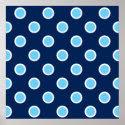Sky Blue Polka Dots on Navy