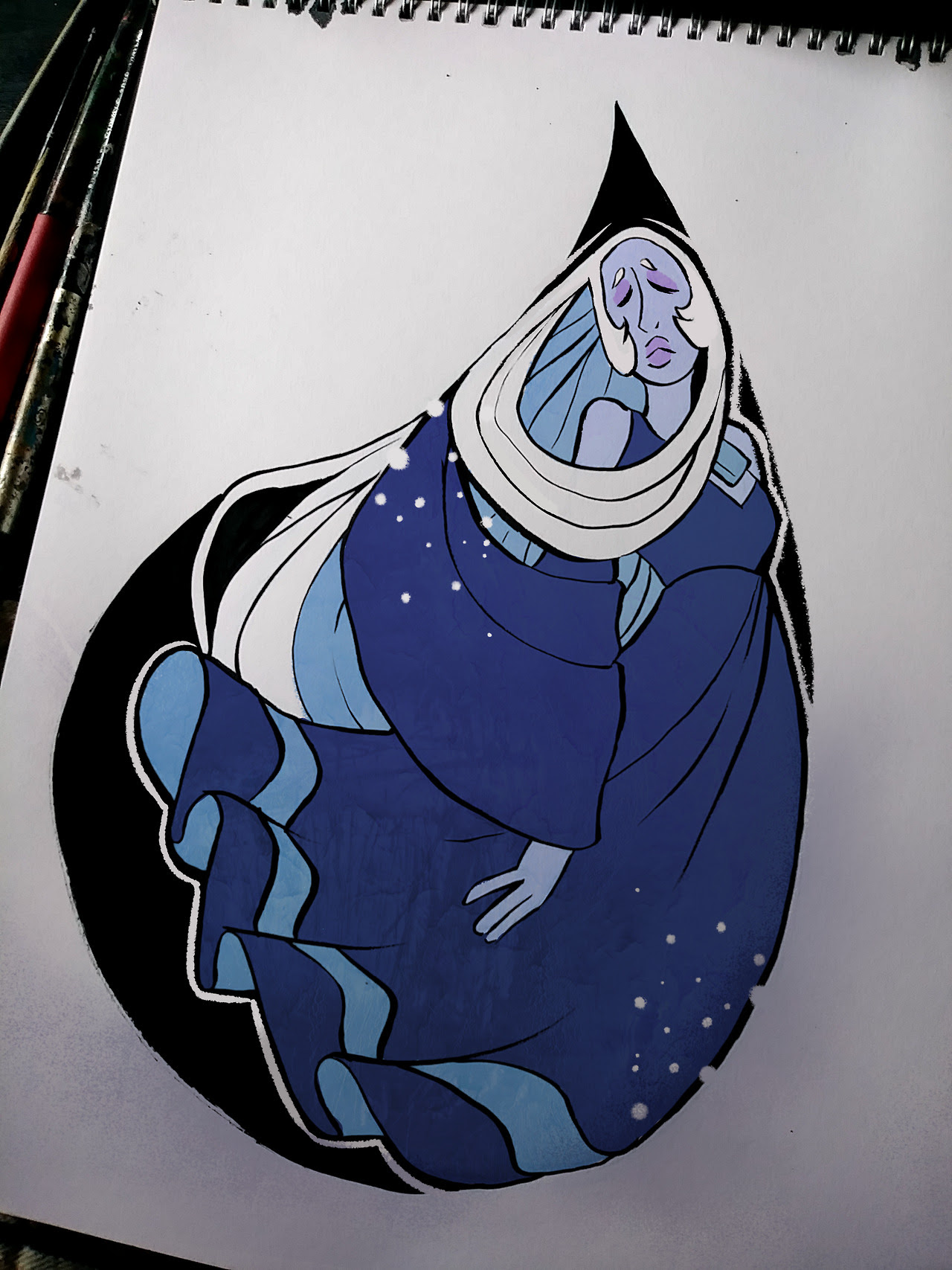 Inktober 2017 - Day 08 to Day 015 Blue Diamond, Asgore and Valter were Patreon requests! Thank you again so much for your lovely requests dear potatoes :D