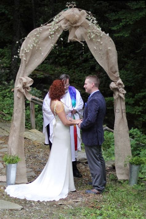 ideas  burlap wedding arch  pinterest