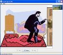 Screenshot of the simulation John Travoltage