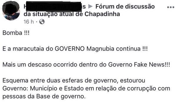 """Prefeito de Chapadinha aciona internautas na Justiça, por """"calúnias"""" e """"ameaças"""""""