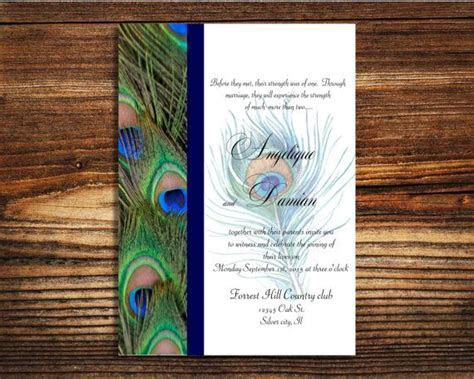 25  best ideas about Peacock wedding invitations on