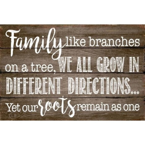 Family Like Branches On A Tree Wooden Sign Athena Posters