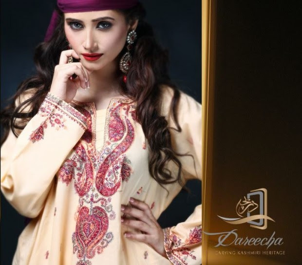 New-Neckline-Dress-Designs-by-Dareecha-Embroidered-Kashmiri-Winter-Dress-Collection-2013-7