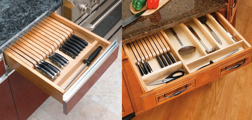 Knife Drawer Storage Drawing Skill