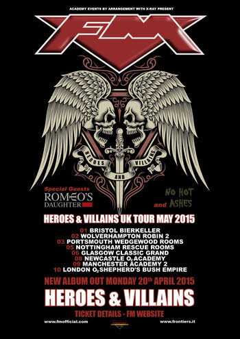 FM Heroes & Villains UK Tour May 2015 poster