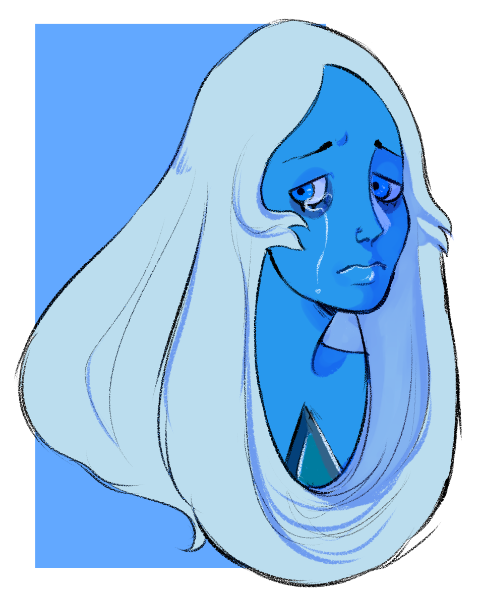 trying out clip studio! blue diamond's design is a fave