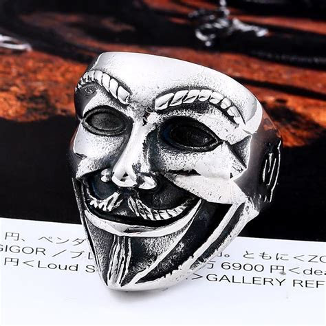 New V for Vendetta Stainless Steel Jewerly Wholesale