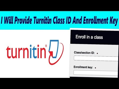 Turnitin Class ID And Enrollment Key 2020 | Turnitin Class ID and Enrollment key December 2020
