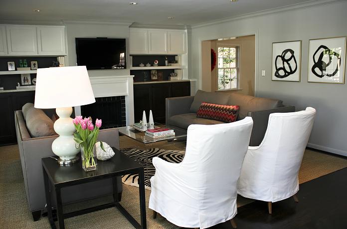 High Back Sofas - Contemporary - living room - Sally Wheat Interiors