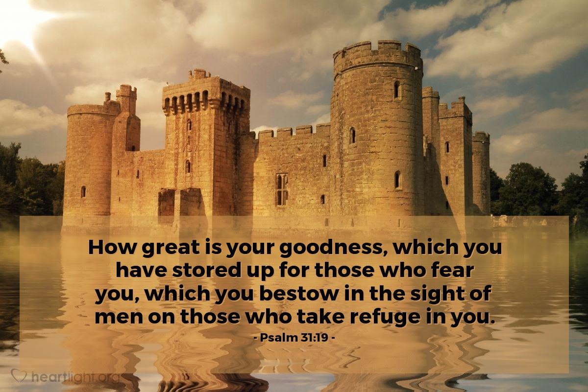 Illustration of Psalm 31:19
