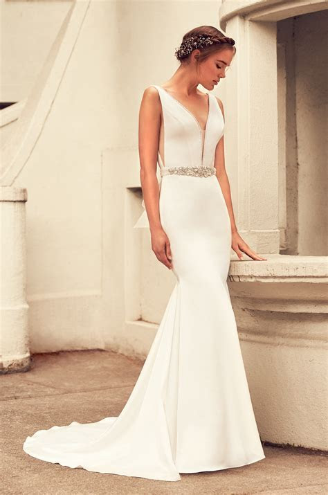 Elegant Satin Wedding Dress   Style #4796   Paloma Blanca