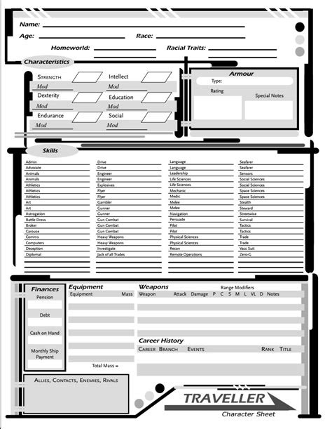 Mongoose Traveller Pdf Character Sheet | lifehacked1st.com