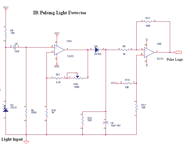 IR Pulsing Light Detector