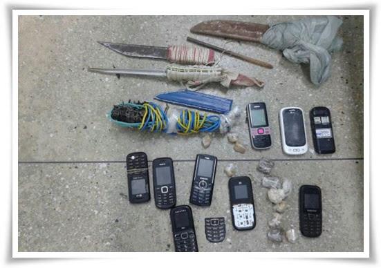 celulares-e-armas-artesanais-encontrados-no-patio-do-presidio-de-caico