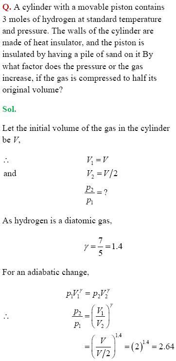 Class 11 NCERT Solutions for Chemistry chapter- Thermodynamics