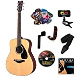 Yamaha FG700S Acoustic Guitar BUNDLE w/ Legacy Accessory Kit (Tuner, Picks, Capo and Much More)