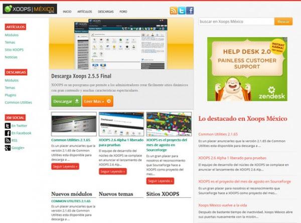XOOPS Mexico Screenshot