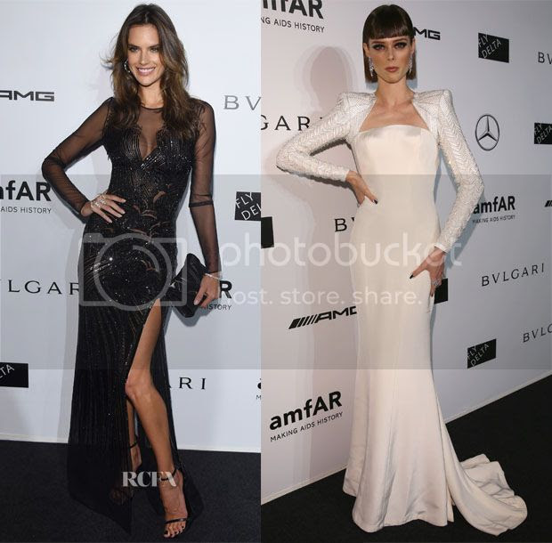 amfAR Milano 2014 Gala Red Carpet Fashion Styles photo 2014-amfAR-Gala-Red-Carpet-alessandra-ambrosio-coco-rocha.jpg