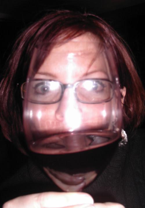 Justine through glass