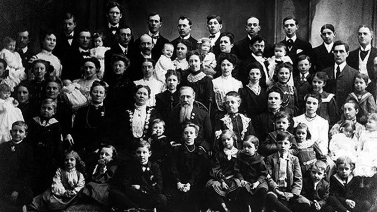 Foto falsa da família Vassilyev