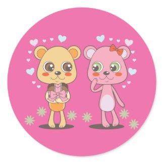 Teddy Bears in Love sticker