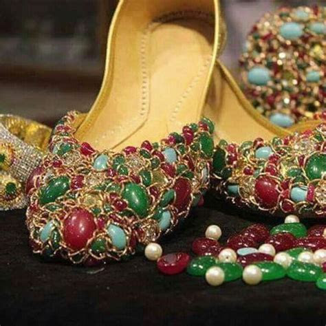 stone studded khussa womens footwear pinterest love