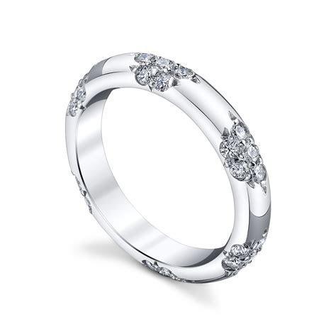 """Michael B. """"Petite Crown Lace"""" Pavé Diamond Wedding Band"""