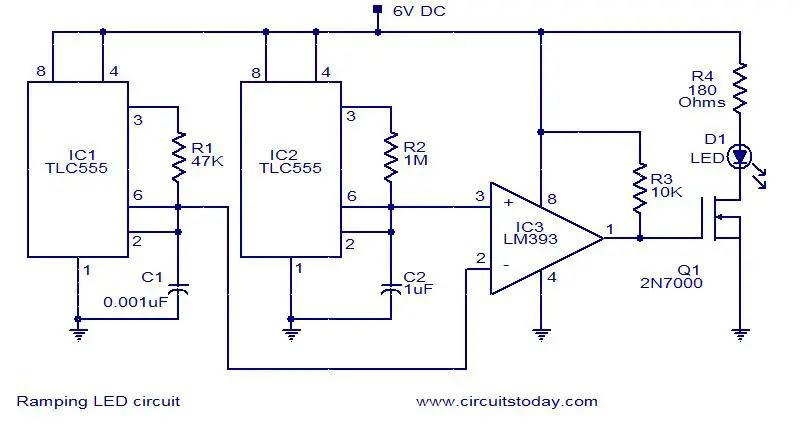 led-ramping-circuit