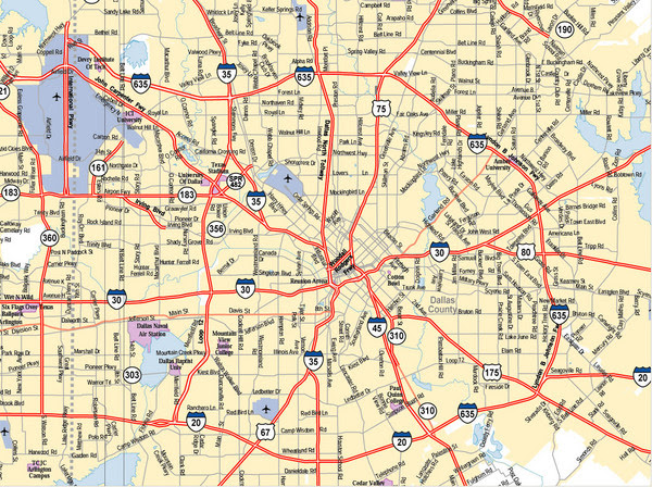 Dallas Texas Map Surrounding Cities