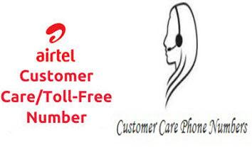 Airtel Customer Care Tollfree Number Madhya Pradesh and Chhattisgarh